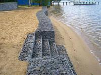Укрепление берегов габионами
