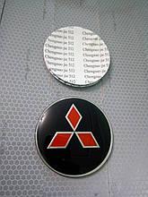 3D наклейки на диски и колпаки MITSUBISHI металл  56 мм  и  65 мм