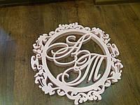 Герб на свадьбу круглый из полистирола