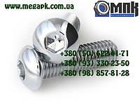 Нержавеющий винт М10х16...60 с полукруглой головкой с внутренним шестигранником, винт ISO 7380, DIN 7380