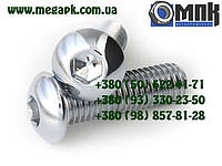 Нержавеющий винт М12х20...60 с полукруглой головкой с внутренним шестигранником, винт ISO 7380, DIN 7380