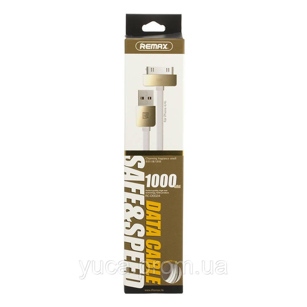 Кабель USB Remax IPhone 4s King Kong RC-D002i4 1м белый