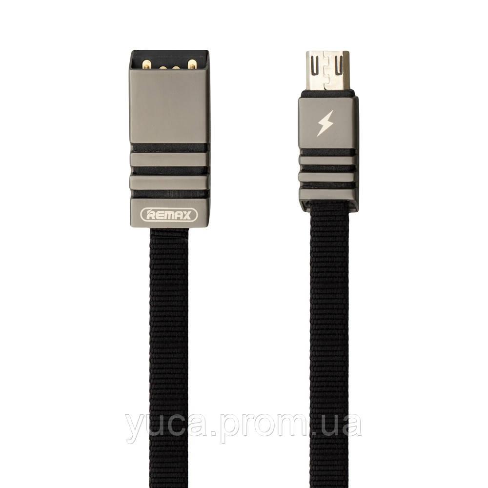 Кабель USB Remax Micro Weave RC-081m 1м чёрный