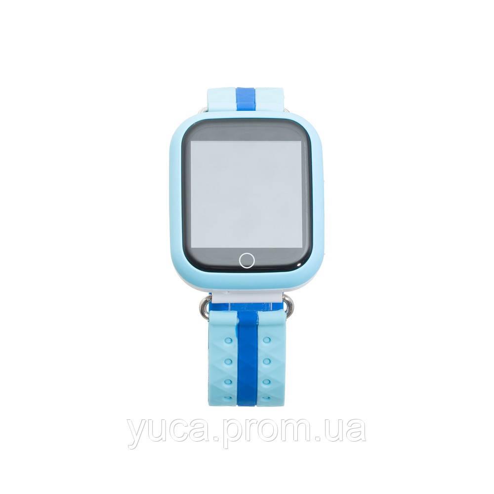 Детские смарт часы  Q100 GPS+Wi-Fi (Голубой)