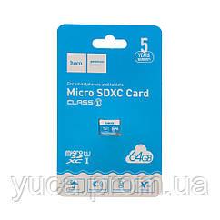 Карта памяти Hoco MicroSDHC 64gb (Синий)