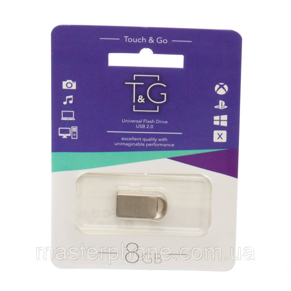 Флешка T&G USB Flash Drive T&G 8gb Metal 107 (Стальной)