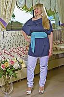 Блуза-туника из однотонной ткани , вечная и всегда уместная классика!