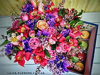 """Цветы в коробке """"Макарунс"""""""