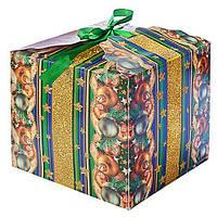 """Коробка подарочная бумажная """"Новый год"""" 12шт/уп (цена за 1 шт), разные цвета, коробки для подарков, подарочная коробка, коробочки"""