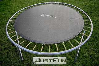 Батут Just Fun 305 см с внутренней сеткой и лестницей (B-JF305) Синий, фото 2