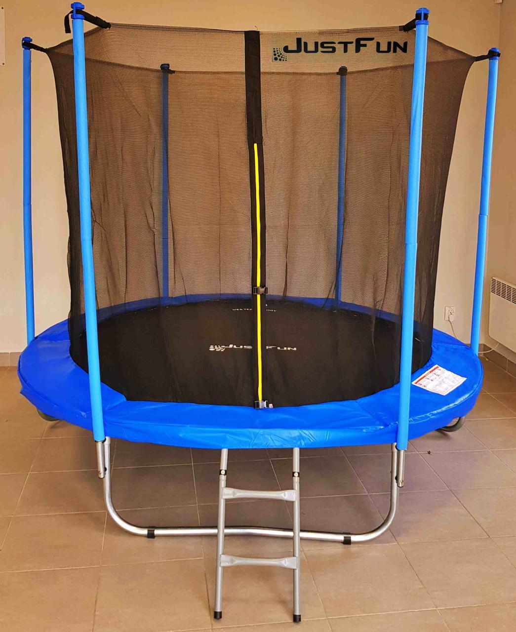 Батут Just Fun 305 см с внутренней сеткой и лестницей (B-JF305) Синий