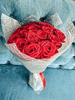 Букет 19 красных роз 60 см