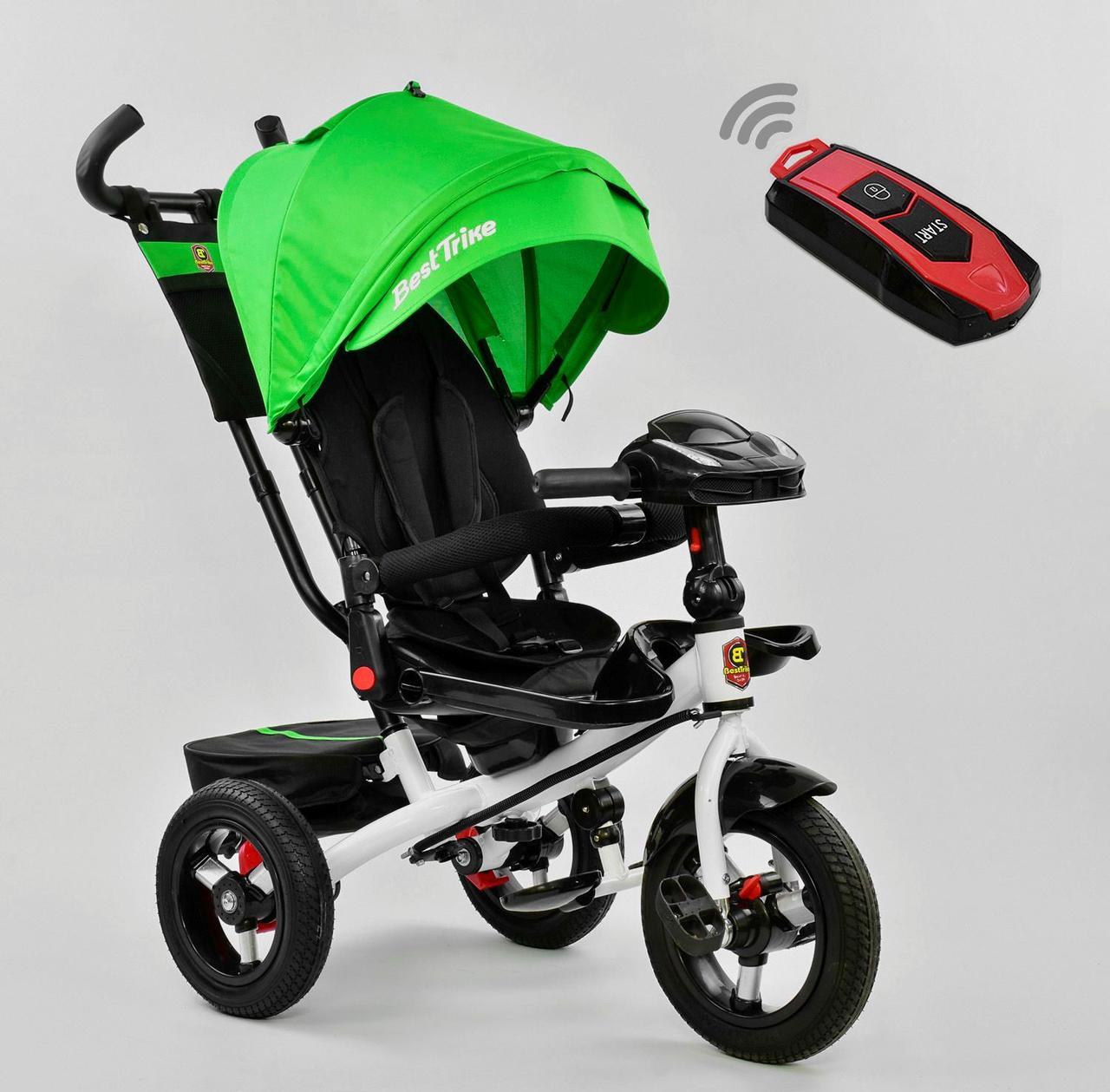 Bелосипед трехколесный Best Trike 6088 F - 1990 с надувными колесами Зеленый 75107