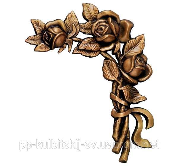 Букет трояндів з стрічкою 2460J