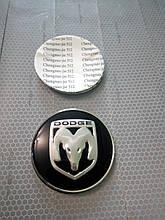 3D наклейки на диски и колпаки DODGE металл  56 мм  и  65 мм