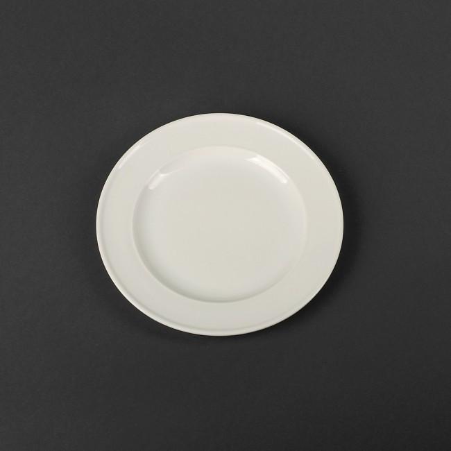Тарелка фарфоровая мелкая с бортом 180мм
