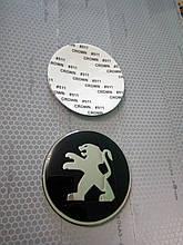 3D наклейки на диски и колпаки PEUGEOT металл  56 мм  и  65 мм