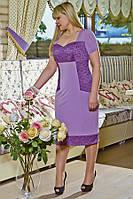 Платье с корсетной вставкой в области груди