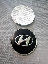 3D наклейки на диски и колпаки HYUNDAI металл  56 мм  и  65 мм