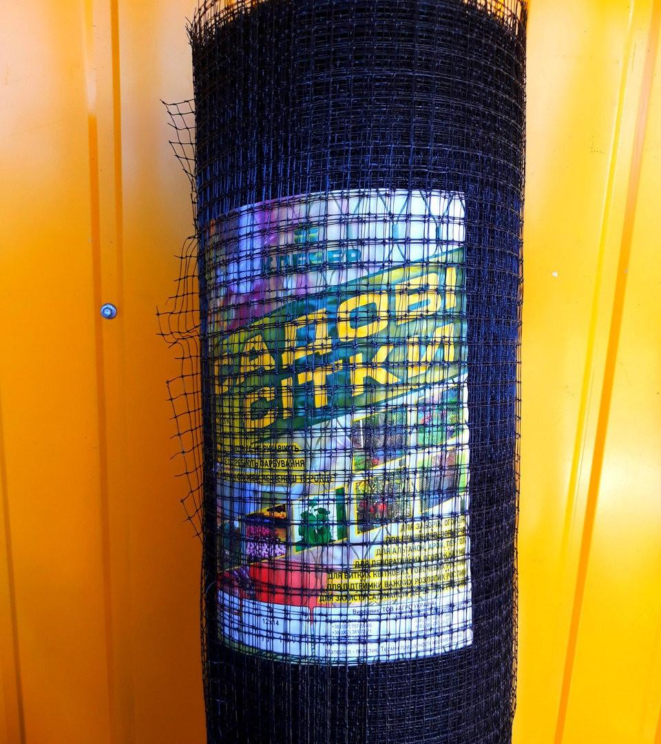 Сетка для птиц Клевер 50смх100м, ячейка 12х14мм Украина