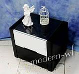 """Прикроватная тумба из клена """"Орео"""" в черно-белом цвете, фото 4"""