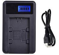 Зарядное устройство Ruibo LCD USB для Sony NP-FV100 / FV70 / FV50, NP-FH100 / FH50 / FH40, NP-FP90 / FP50