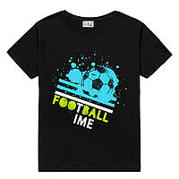 Футболка FOOTBALL TIME детская черная