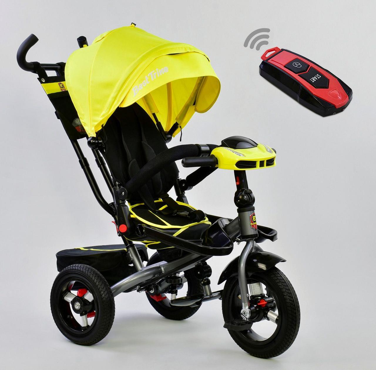 Bелосипед трехколесный Best Trike 6088 F - 1340 с надувными колесами Желтый 75098