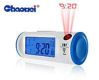 Часы с проектором будильник термометр Chaowei CW8097
