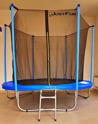 Батут Just Fun 244 см с внутренней сеткой и лестницей, фото 2