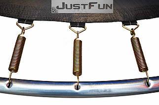 Батут Just Fun 244 см с внутренней сеткой и лестницей, фото 3