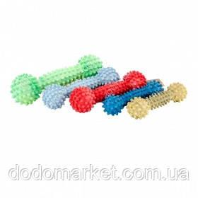 Резиновая игрушка для собак гантель шипованная с ароматом ванили 12 см