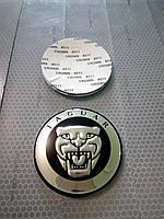 3D наклейки на диски и колпаки JAGUAR металл  65 мм