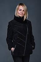 Женская куртка из натуральной замшевой кожи