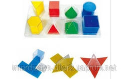 Набір прозорих геометричних фігур з розгорткою
