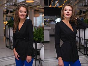 """Стильная женская блуза на запах """"HEATER"""" с длинным рукавом (5 цветов), фото 3"""