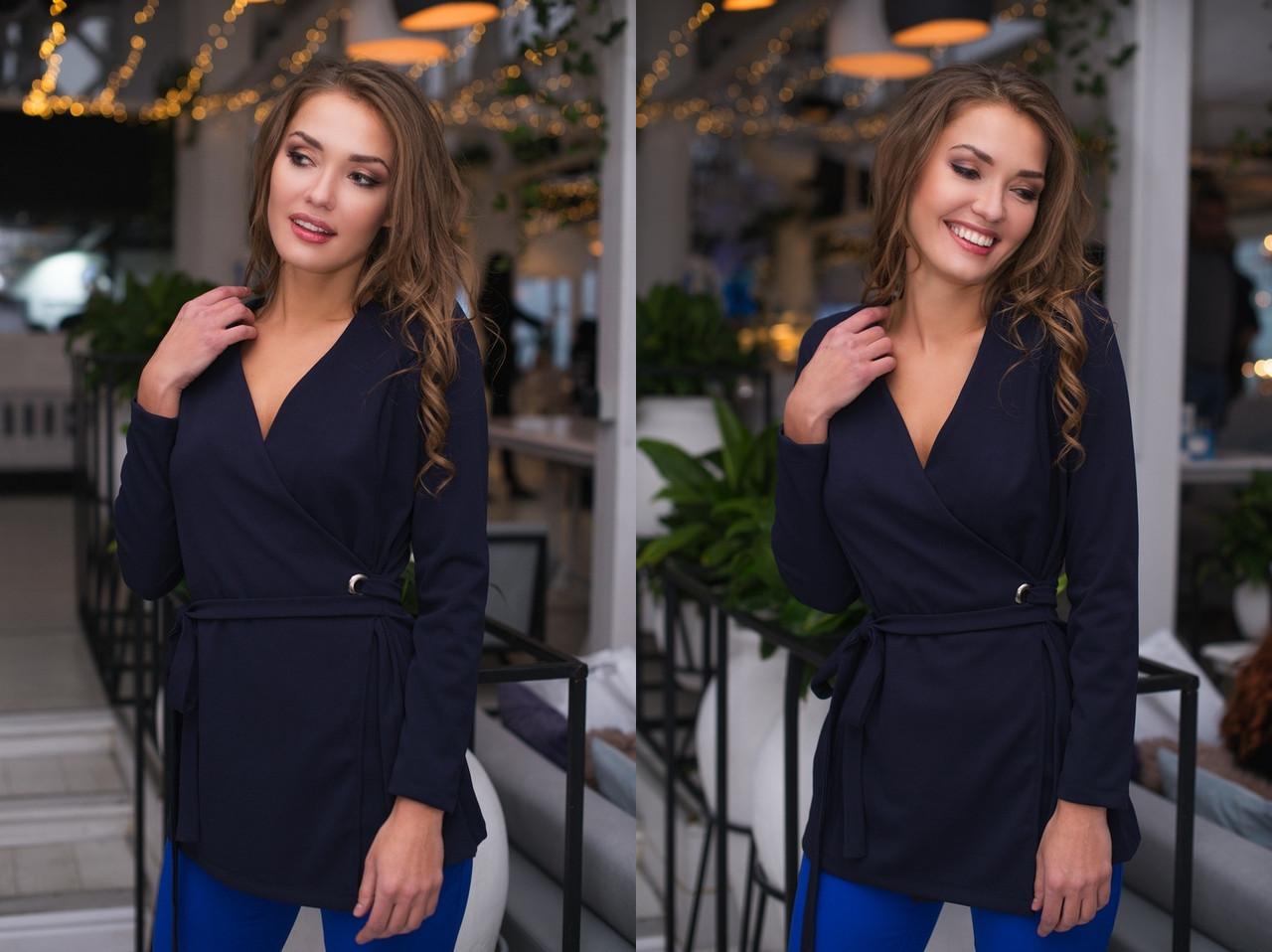 """Стильная женская блуза на запах """"HEATER"""" с длинным рукавом (5 цветов)"""