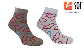 Шкарпетки спортивні жіночі SOI 23-25 р. (36-40) * 635 / сердечка, фото 2