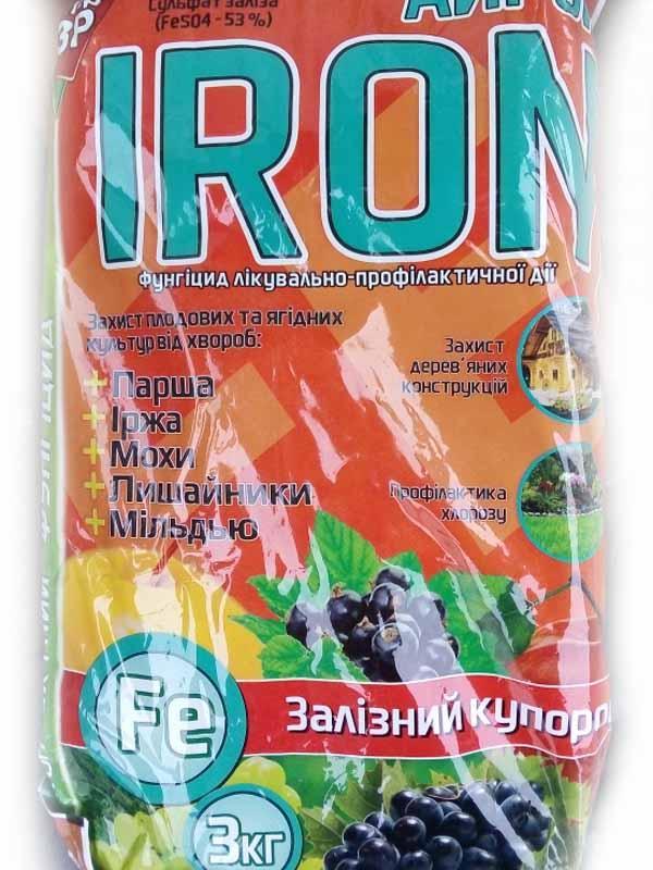 Железный купорос 3кг Айрон (Iron)