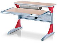 Парта-трансформер MEALUX Harvard + box MG/R (столешница клён / накладки красные)