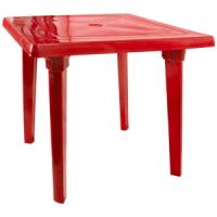 """Комплект мебели стол квадратный + 4 стула """"Рекс"""" красный  Алеана"""