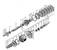 Узел входного вала КПП BS428 ZL30 на погрузчик FL936F LW300F ZL30G ML333R ZL20 XZ636 CDM833 CDM843