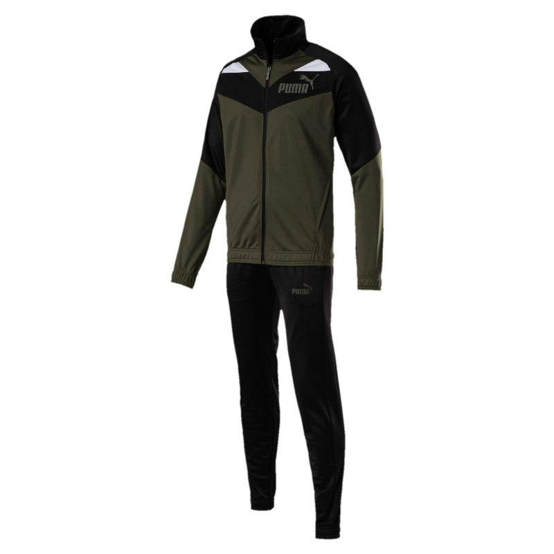 Костюм спортивный мужской Puma Iconic Cl 851559 15 (темно-зеленый, полиэстер, для тренировок, логотип пума)
