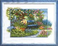 Набор для вышивания «Скамейка в цветах»