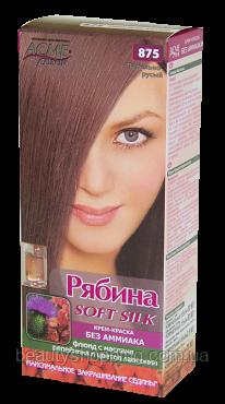 Крем-краска для волос без аммиака Рябина Soft Silk с флюидом 875 Пепельно-русый