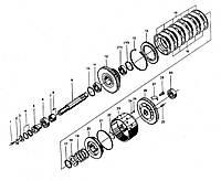 Узел обратного вала КПП BS428 ZL30 на погрузчик FL936F LW300F ZL30G ML333R ZL20 XZ636 CDM833 CDM843