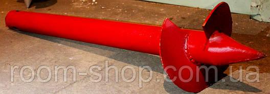 Свая винтовая (одновитковая, паля) диаметром 57 мм., длиною 1.5 метра, фото 2