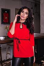 """Стильная женская блуза """"NINELLE"""" с контрастным воротничком (6 цветов), фото 3"""