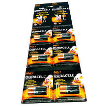 Батарейки Durasell  AАA мизинчиковые, R 03, отрывной лист  — 12 шт