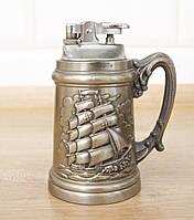 Коллекционная настольная зажигалка в оловянном корпусе, Германия, морская тематика, фото 1